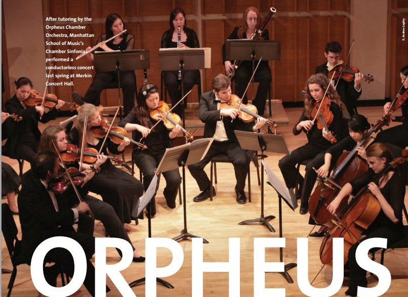 Orpheus chamber orchestra chamber orchestra short history for Chambre orchestra