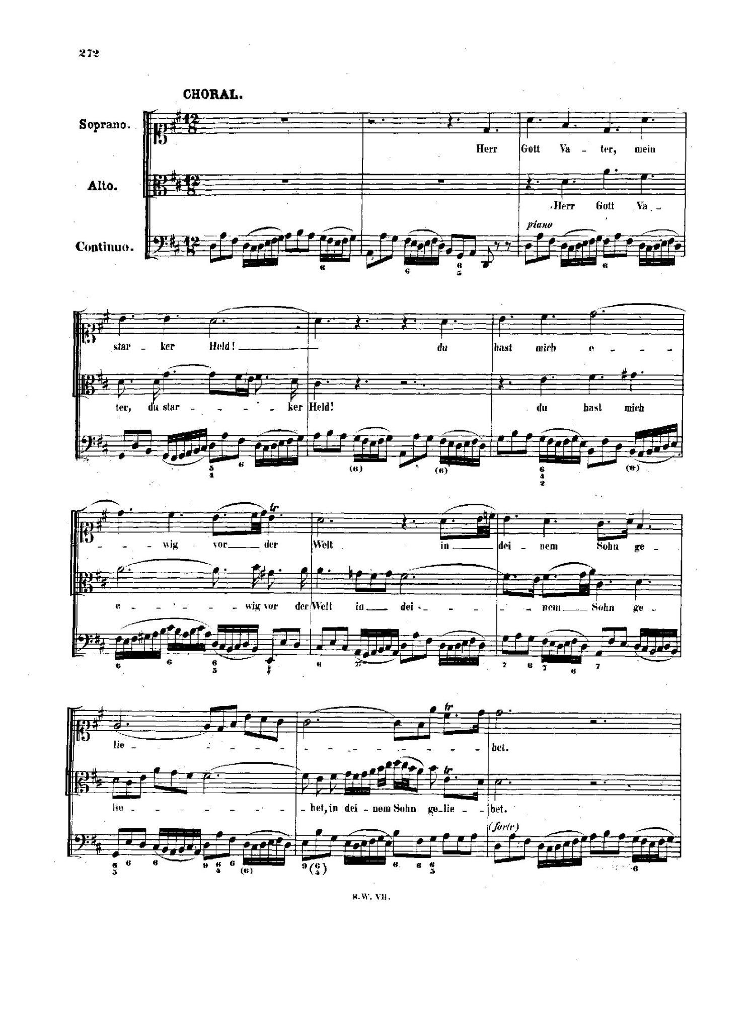 Chorale Melody: Wie schon leuchtet der