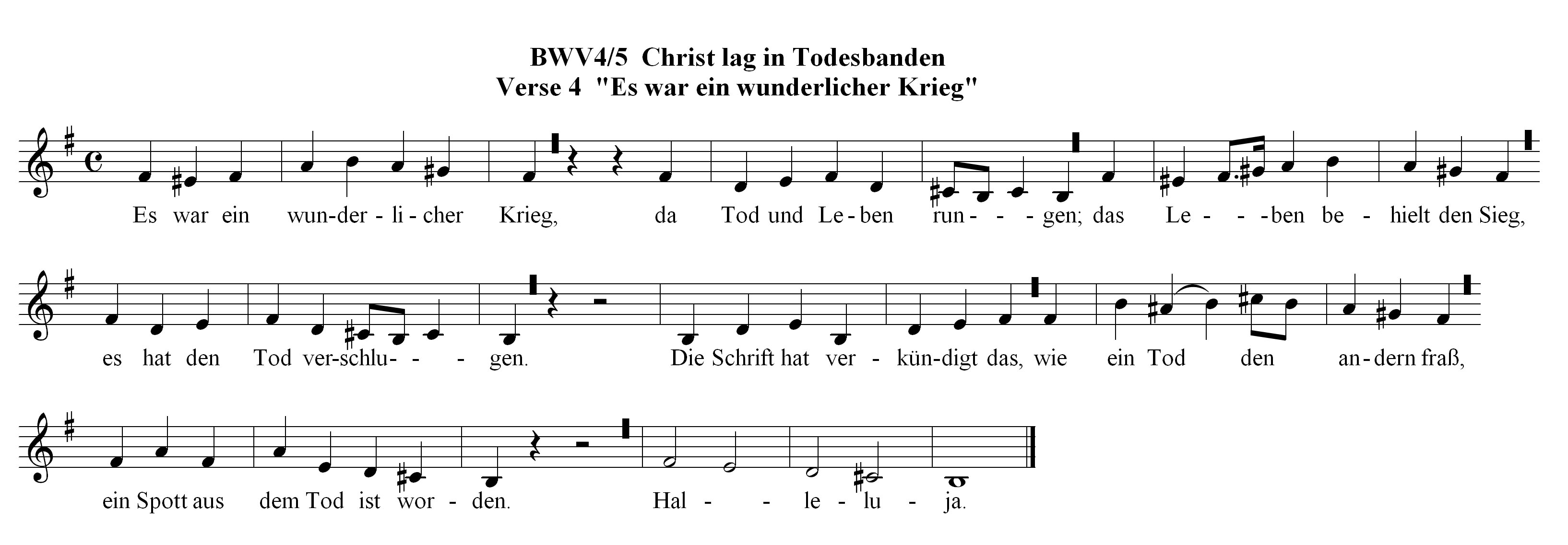 Chorale Melody: Christ lag in Todesbanden