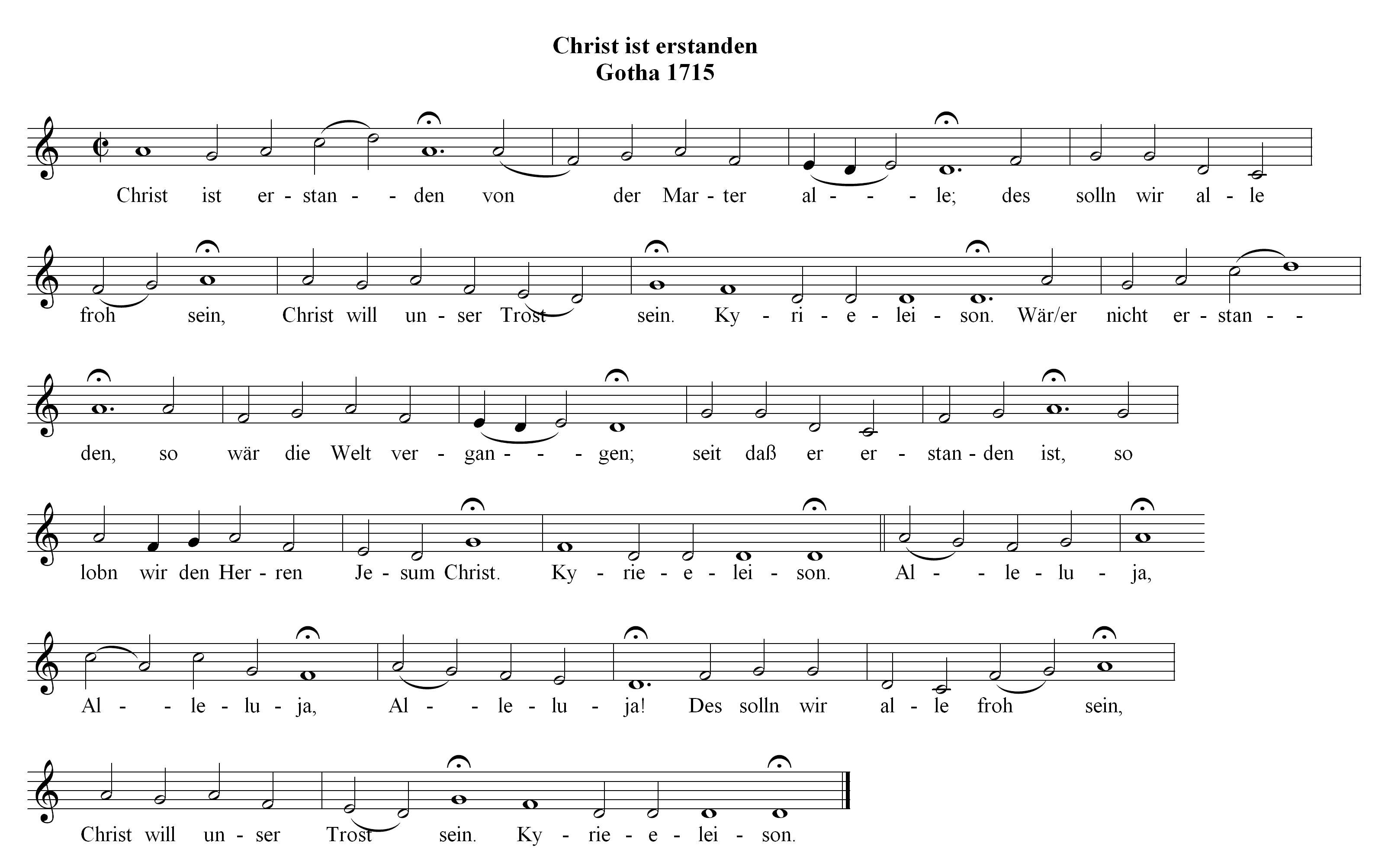 Chorale Melody: Christ ist erstanden