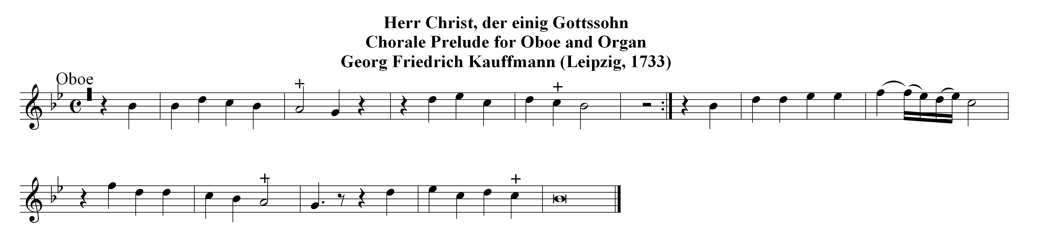 Chorale prelude for organ in G major, BuxWV 191,
