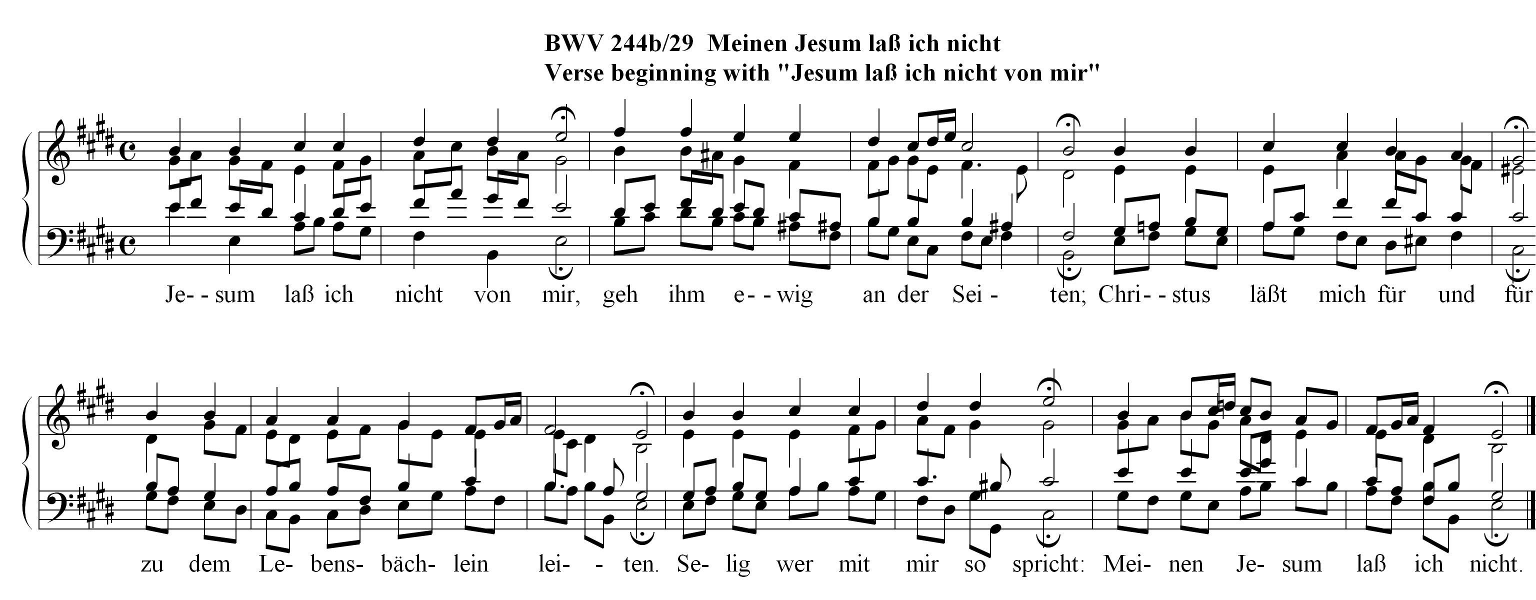 Chorale Melody: Meinen Jesum lass ich nicht