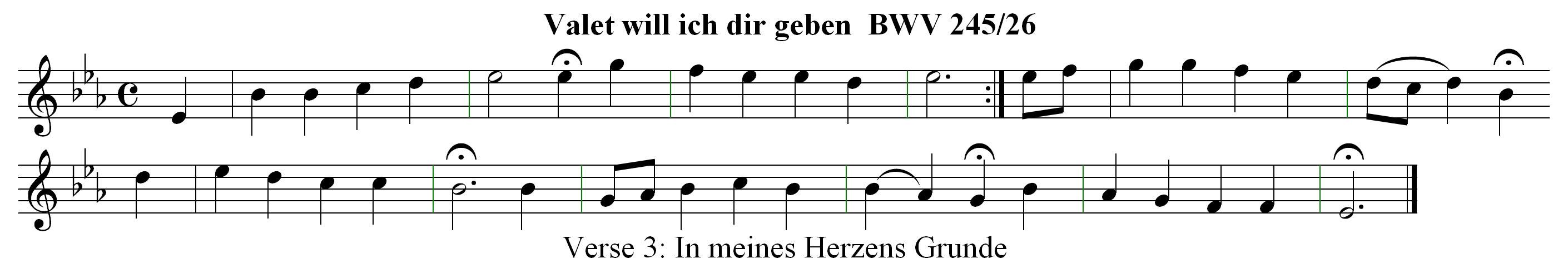 Chorale Melody: Valet will ich dir geben