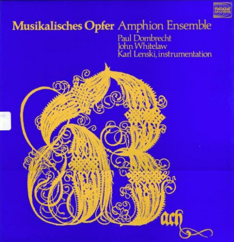 Tilford Ensemble, The* Tilford Bach Ensemble - The Musical Offering, L'Offrande Musicale, Das Musikalische Opfer, BWV 1079
