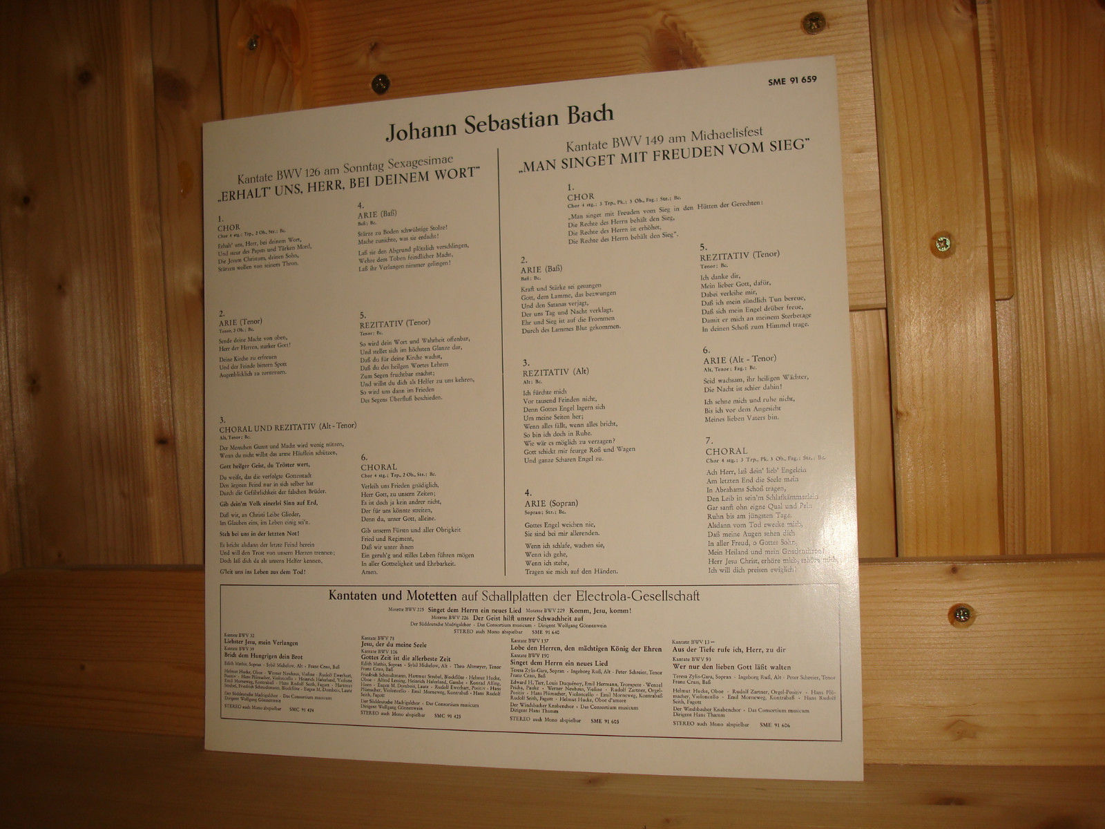 Wolfgang Gonnenwein - Bach Cantatas & Other Vocal Works ...