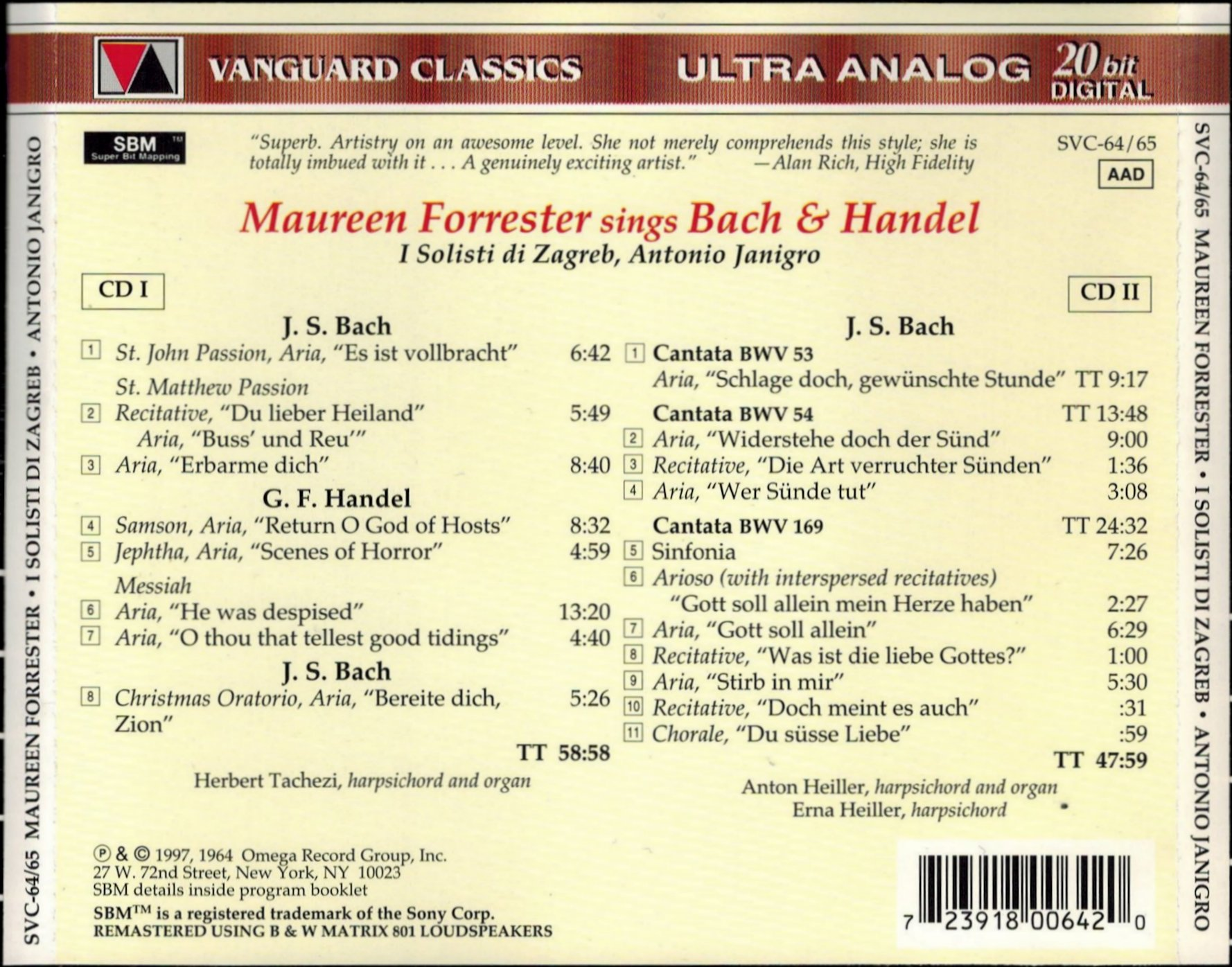 Cantata BWV 169 - Details & Discography Part 1: Complete Recordings