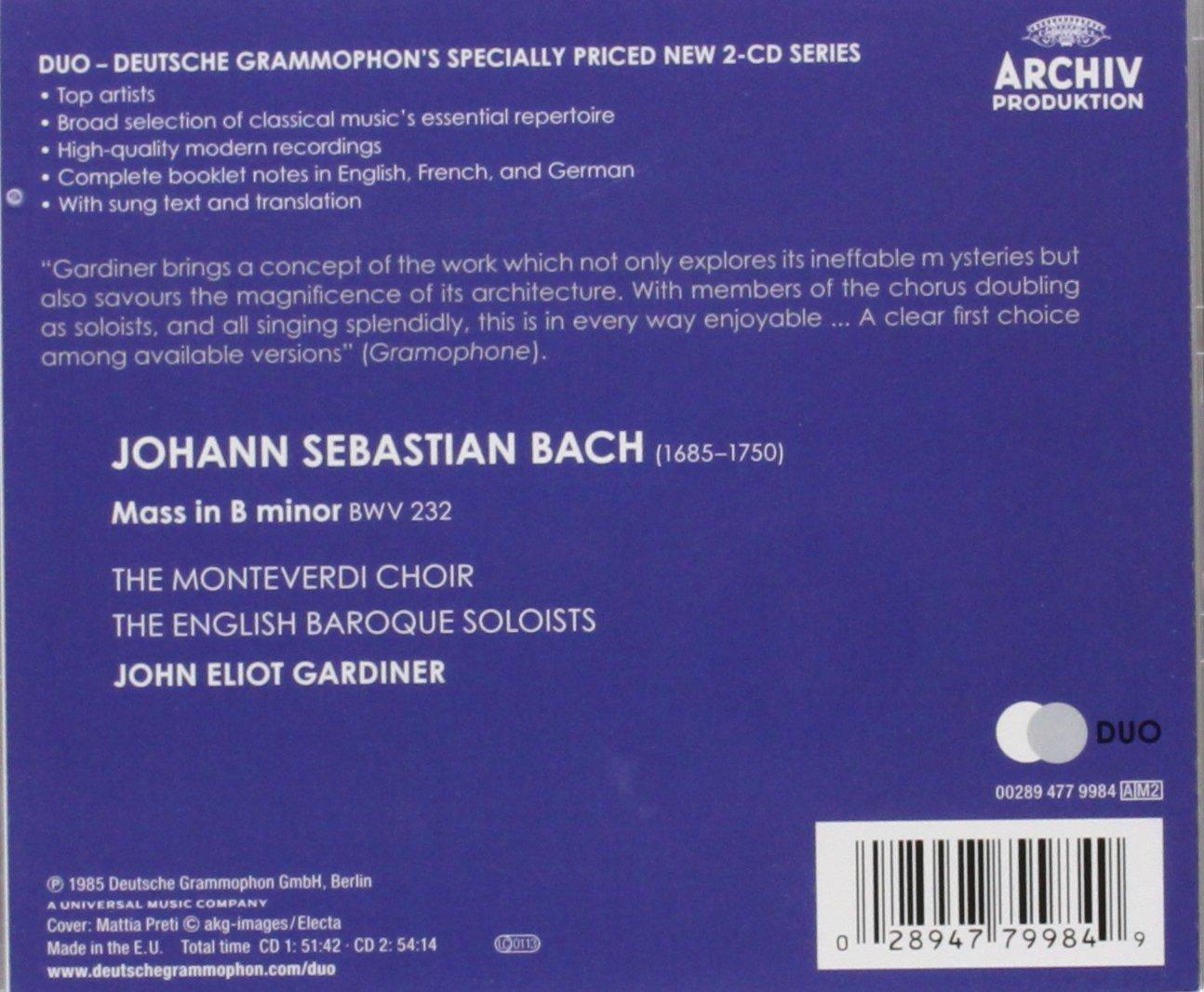 Gardiner Bach : John eliot gardiner bach cantatas amp other vocal works