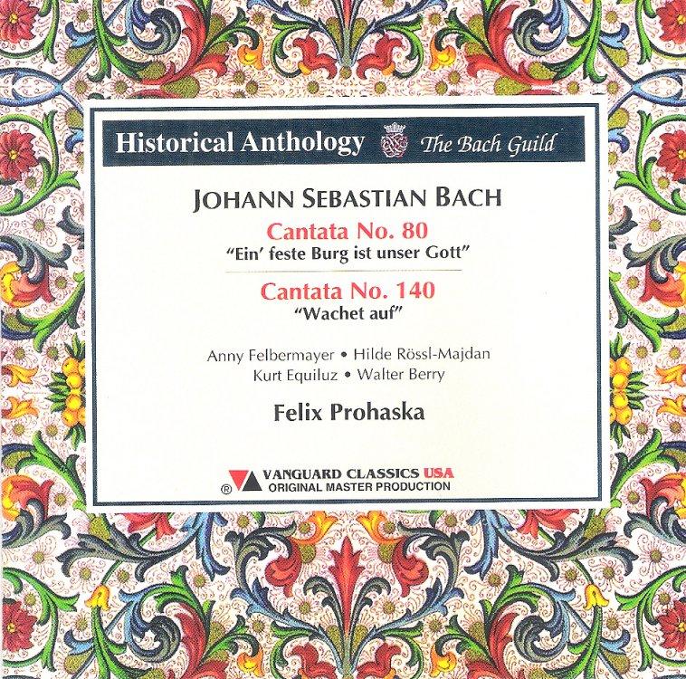 Felix Prohaska - Bach Cantatas & Other Vocal Works - Discography