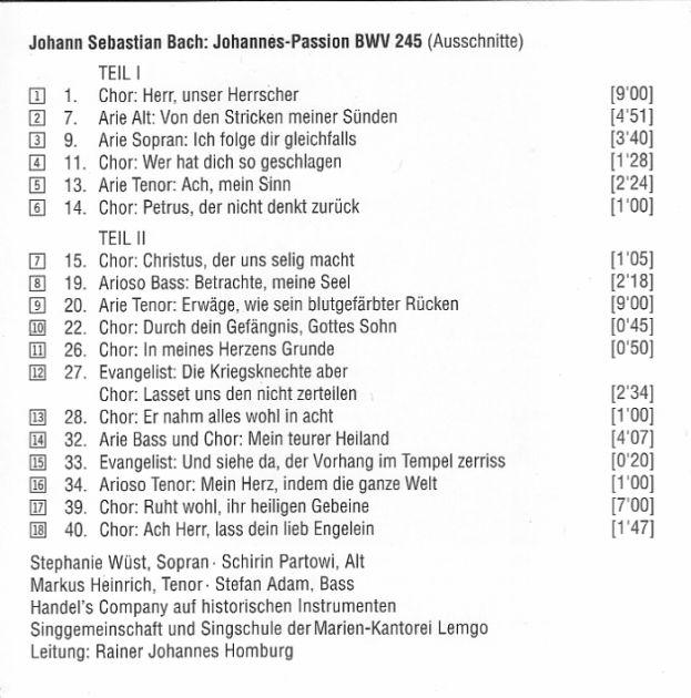 Johannes-Passion BWV 245 - Recordings Part 9: 2010-2019