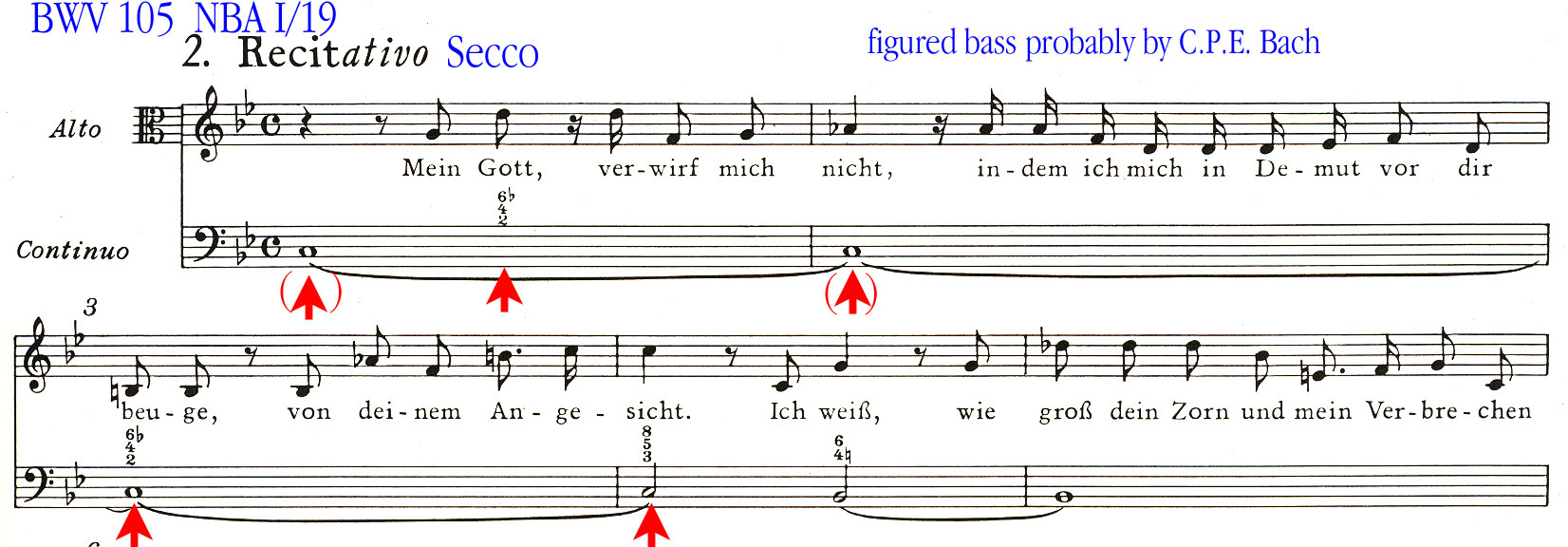 Continuo In Bach S Vocal Works Part 4 Examples From The