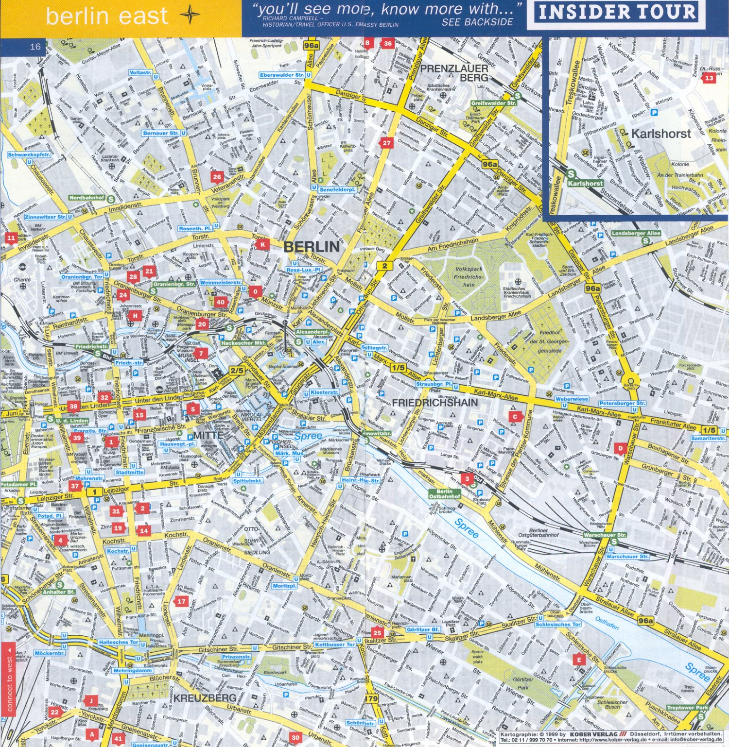 Guide to Bach Tour: Berlin - Maps