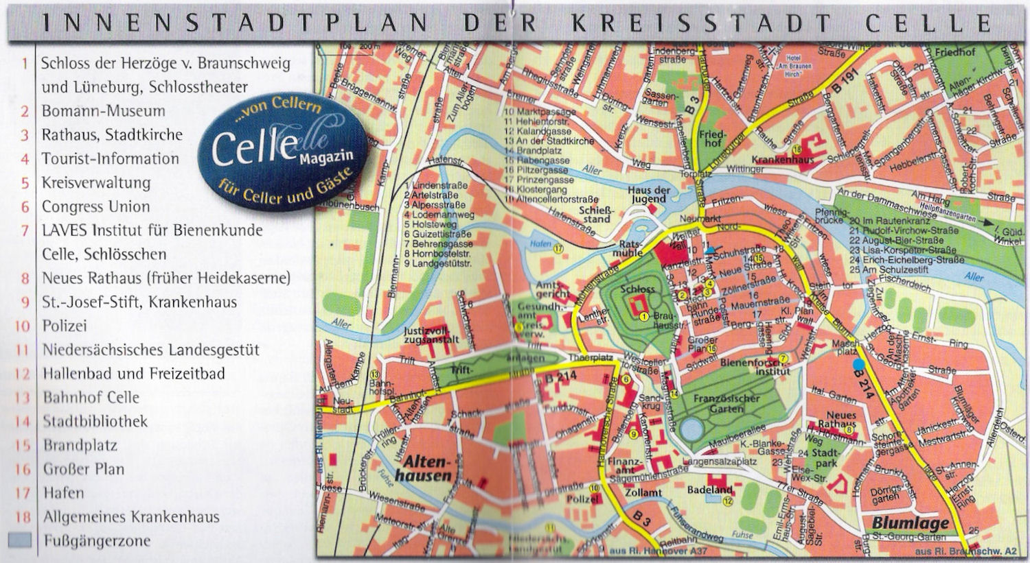 Guide to Bach Tour Celle Maps