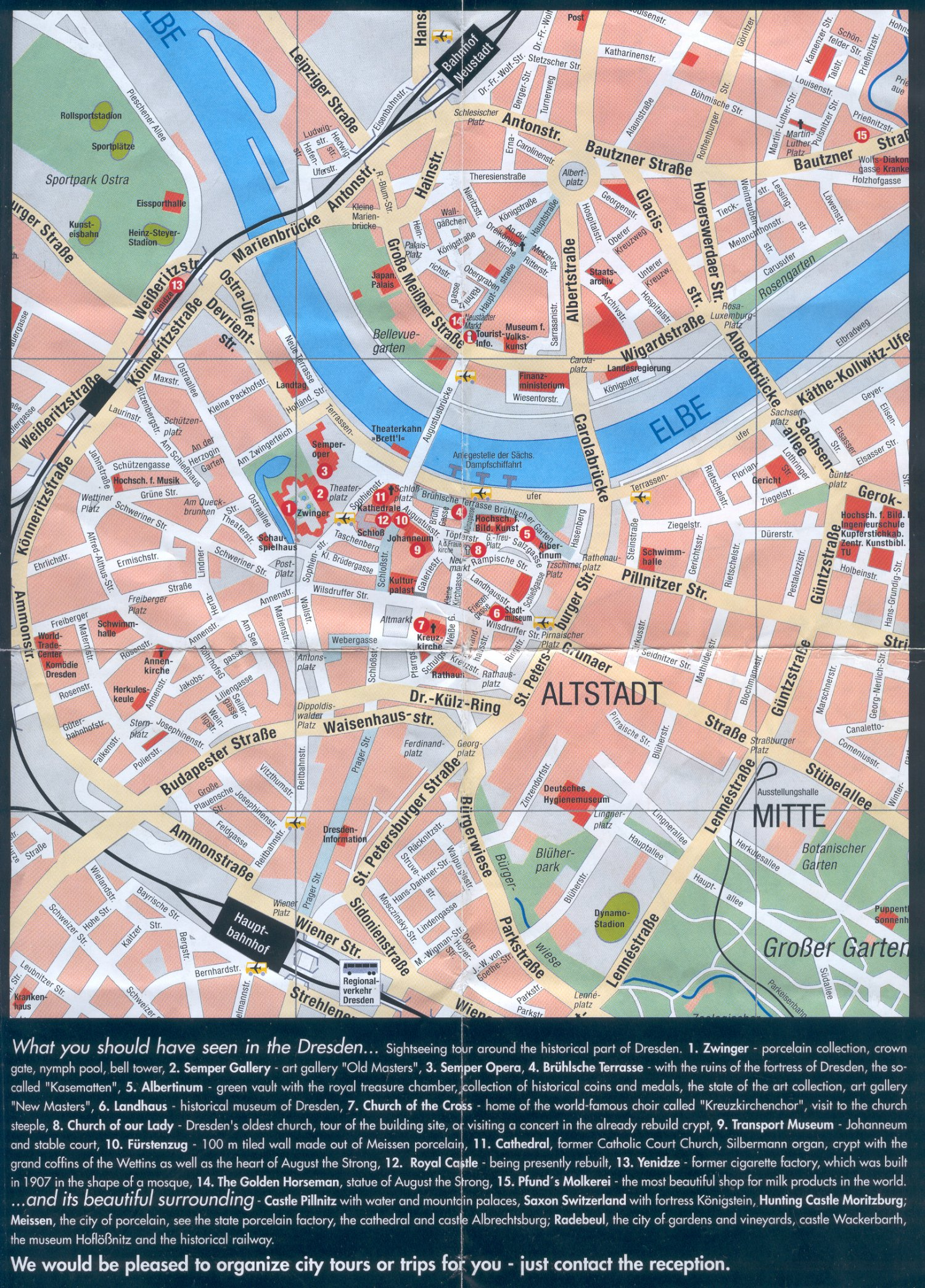 Guide to Bach Tour Dresden Maps