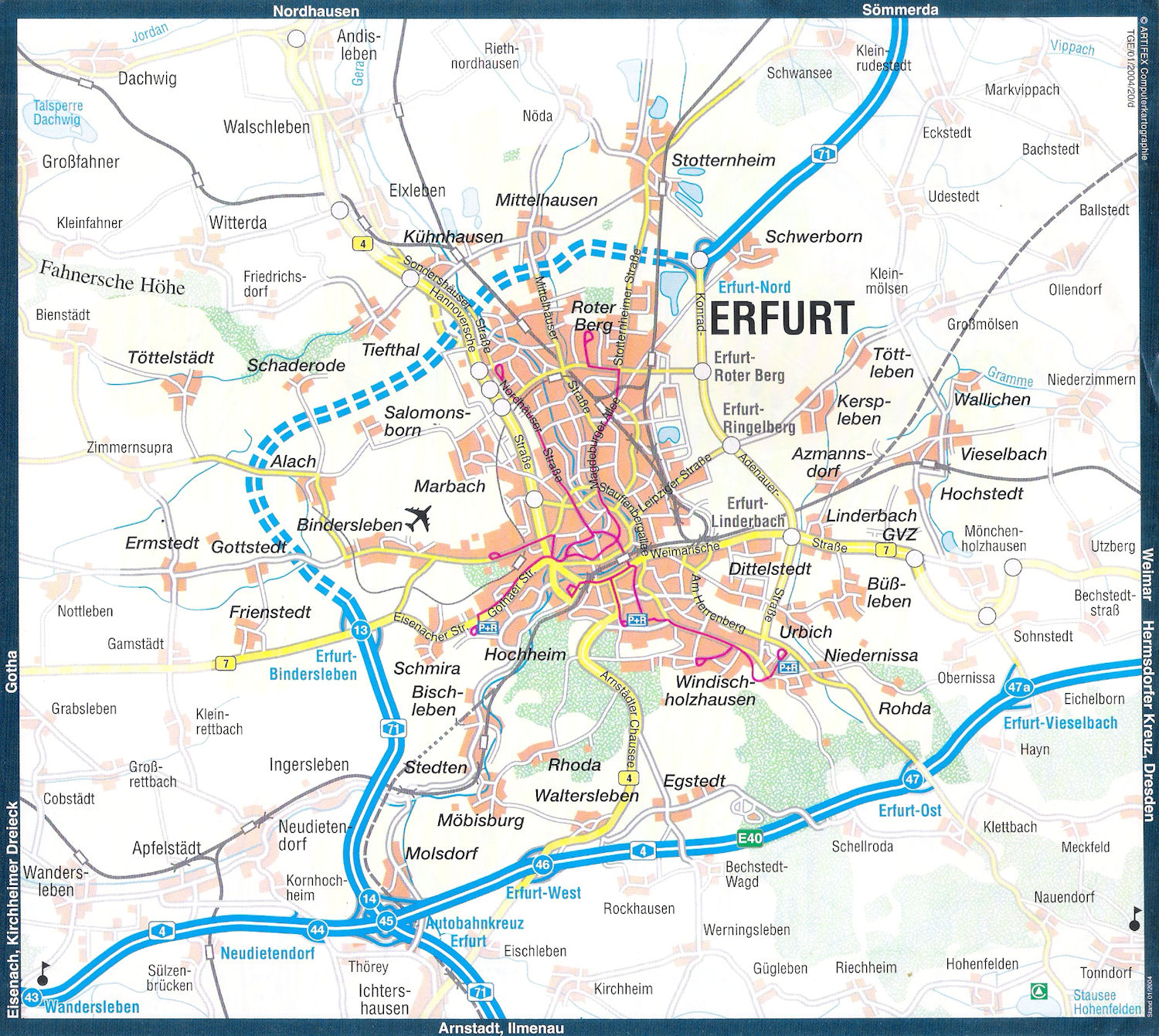 Guide to Bach Tour Erfurt Maps