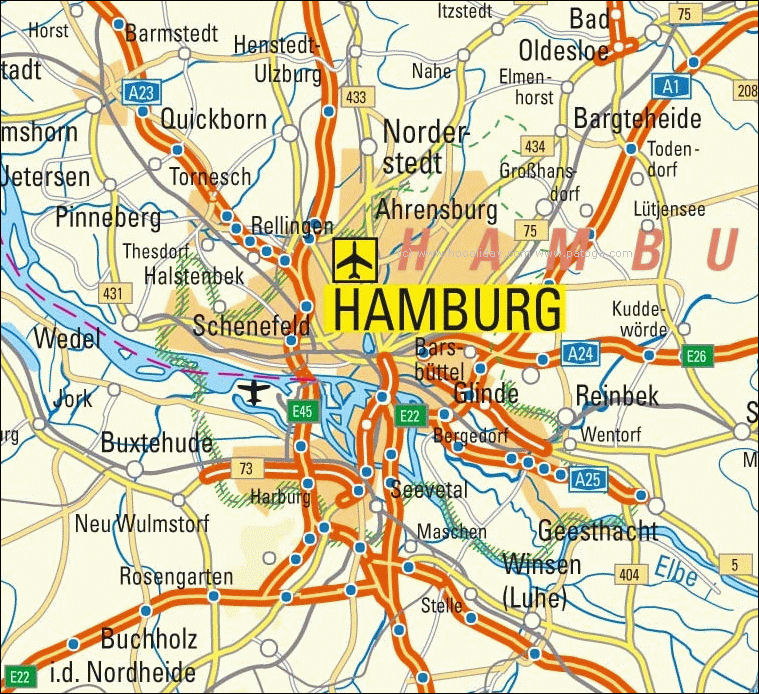 Guide to Bach Tour Hamburg Maps
