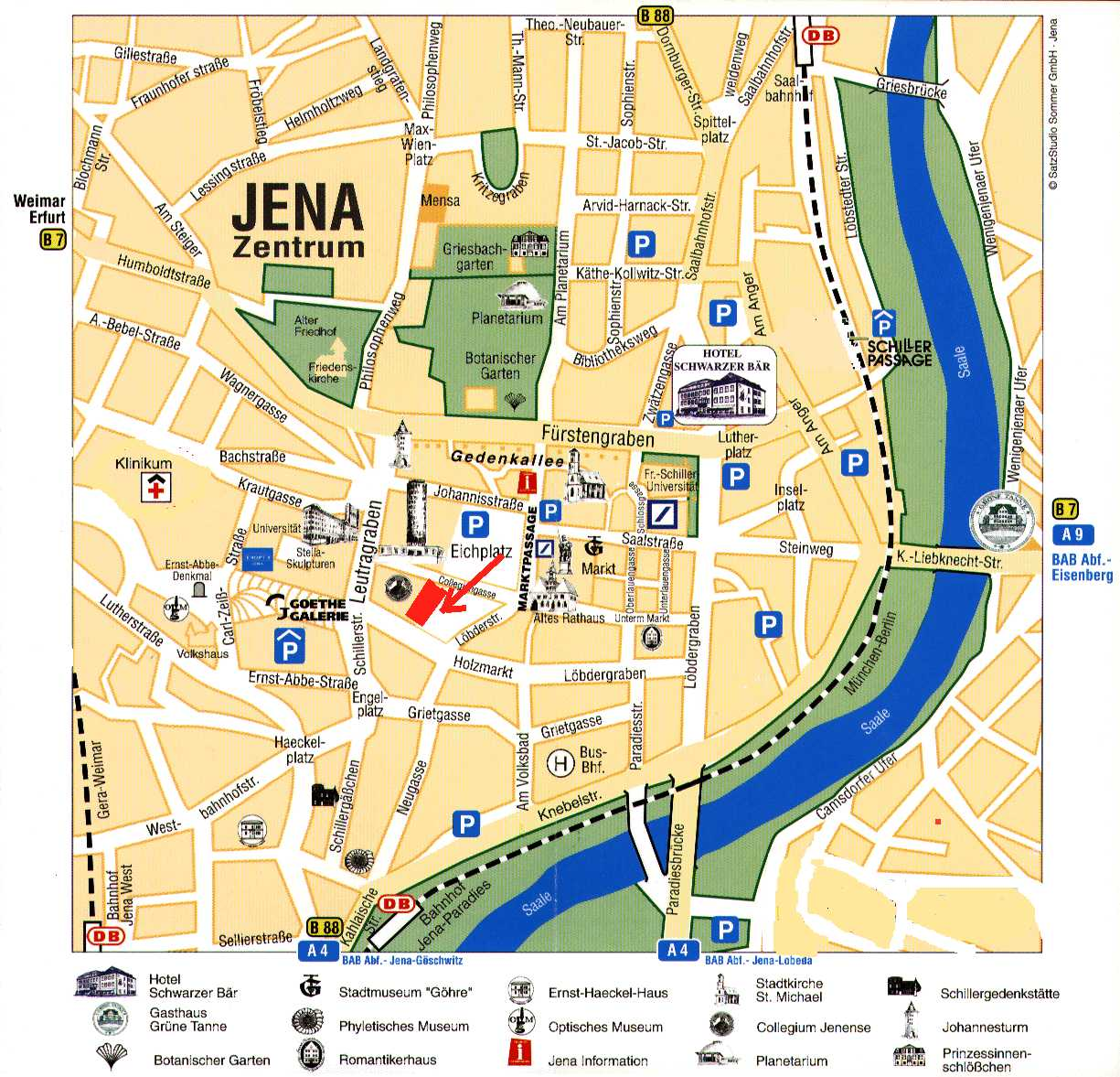 Jena - Town Center Map