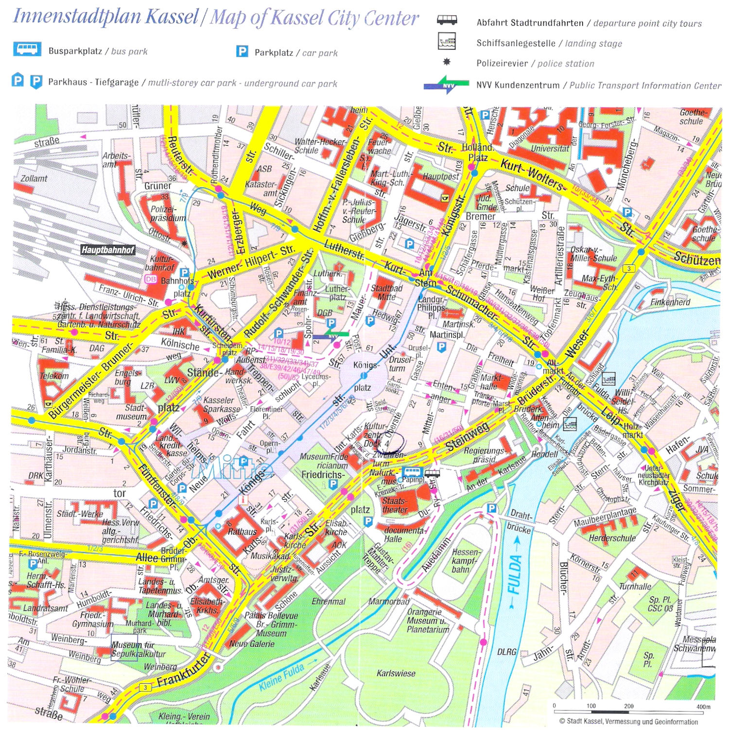 Guide to Bach Tour Kassel Maps