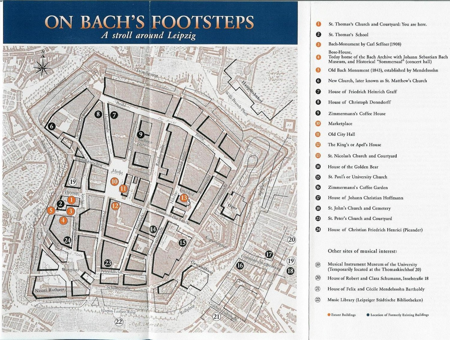 Guide to Bach Tour Leipzig Maps
