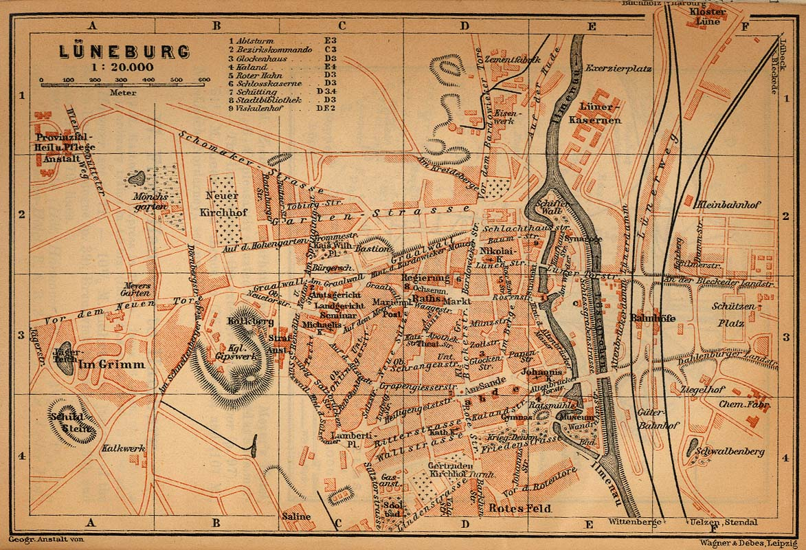 Guide To Bach Tour Luneburg Maps - Luneburg germany map