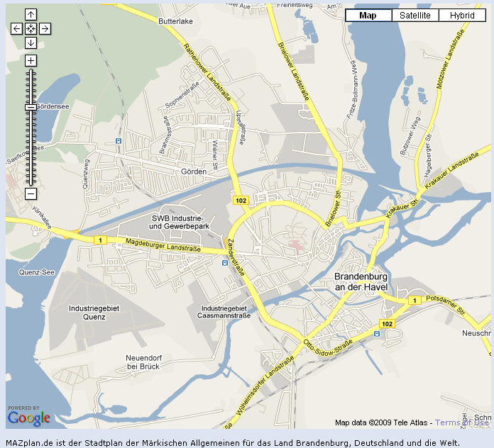 Guide to Bach Tour Brandenburg Maps