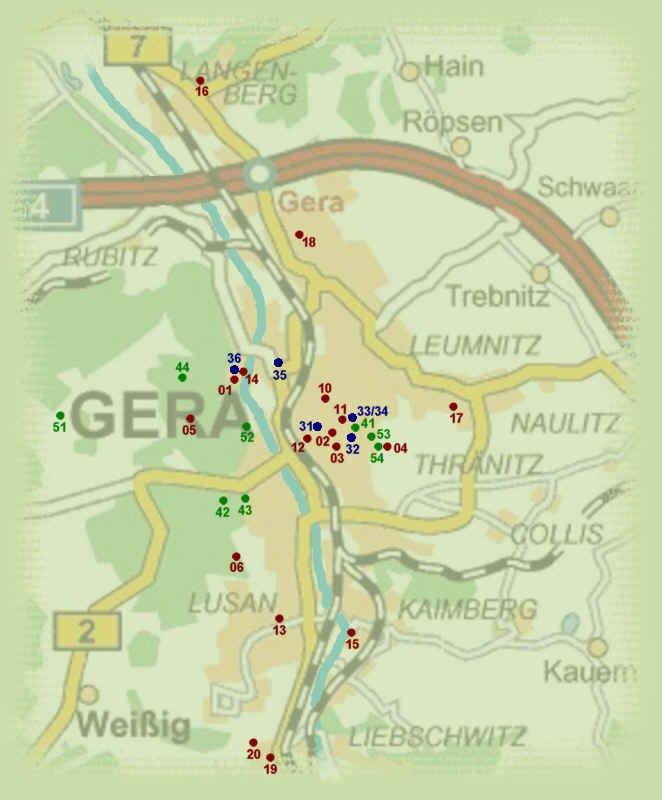Guide to Bach Tour Gera Maps